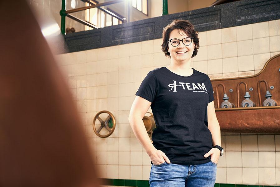 "T-Shirt schwarz ""We love A-Team"""