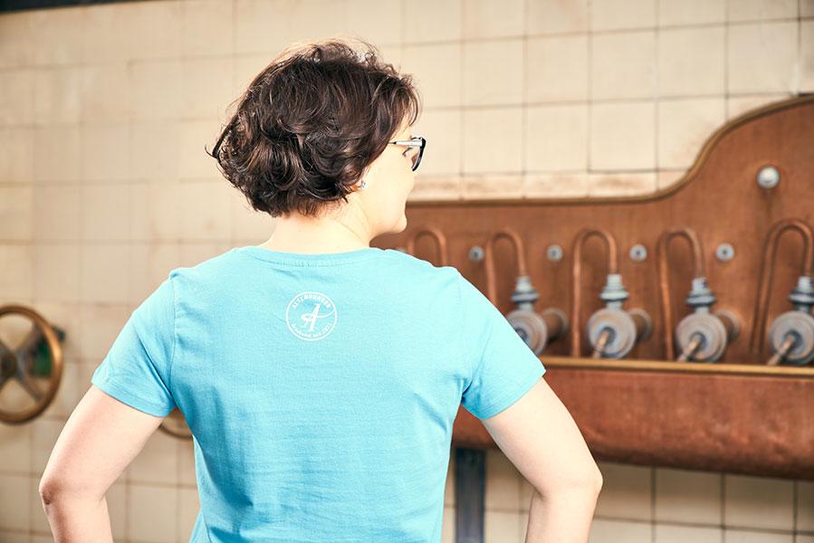 """T-Shirt blau """"We love A-Team"""""""
